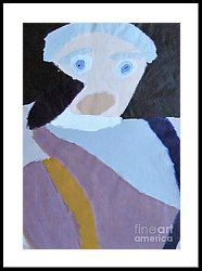 Framed Print featuring the painting Portrait Of A Lady 2014 by Patrick Francis