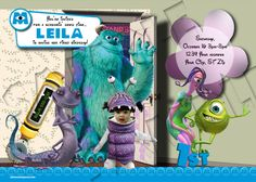 Monsters Inc Birthday Party Invitation Boo Costume