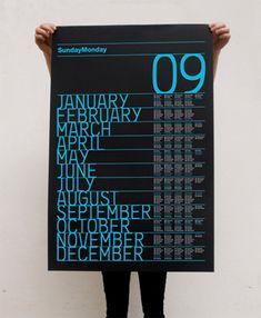 Storno Calendar by Justgonesix Calendar Ui, Calendar Layout, Print Calendar, Yearly Calendar, Typographic Hierarchy, Kalender Design, Cool Calendars, Creative Calendar, Web Design