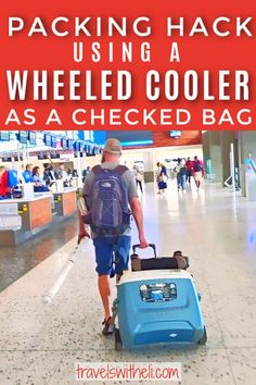 Why a Wheeled Cooler Makes a Great Checked Bag - It might sound crazy but sometimes a wheeled cooler is perfect to bring as a checked bag. Read on to find why bringing a wheeled cooler on your vacation is the ultimate packing hack. #packinghacks #packingtips #packing #wheeledcooler #travelswitheli Suitcase Packing, Packing Tips For Travel, Travel Bags, Travel With Kids, Family Travel, State Park Cabins, Trip To Maui, Packing A Cooler, I Love The Beach