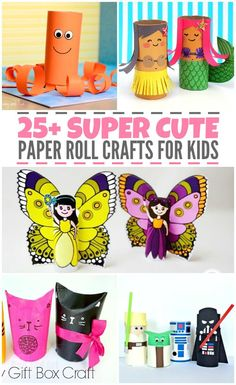 Super Cute Paper Roll Crafts for Kids is part of Paper crafts For Boys - Save up all those empty toilet paper rolls, because we've got a list of super cute paper roll crafts for you and your kids to make and play with! Crafts For Kids To Make, Craft Activities For Kids, Preschool Crafts, Kids Crafts, Paper Toy, Toilet Paper Roll Crafts, Crafty Kids, Business For Kids, Creative Kids