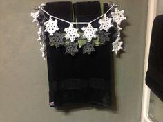 Hand Crochet Snowflake Garland Small Doily by OnceUponACraft4U, $19.50