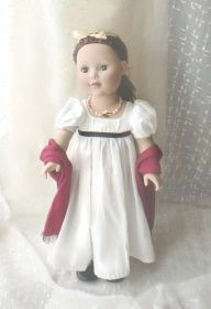 Free Pattern for Regency Style Jane Austen Doll Dress see vanessa knutsen's jane austen site or free 18 in /45 cm doll patterns for free pattern. Madame Alexander doll (with fine eyes) fm walmart