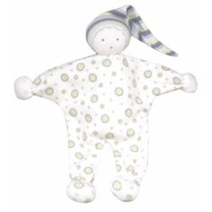 Under The Nile - 100% Organic Egyptian Cotton Baby Clothing Store: Baby Buddy Doll. My favorite teether/lovie. Organic cloth and dyes. When it gets gross, throw it in the washing machine and dryer. Fully washable (and dryer safe) is a priority for me. You can soak the hands in water (or juice) then freeze them for a soothing cold teether.