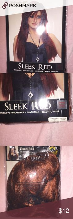 ✨✨ Sleek red Halloween wig !! NEW!! ✨✨ Sleek red Halloween wig !! NEW!! Never worn !!✨✨ spirit halloween Other