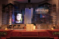 Special Event Design – Page 8 – Church Stage Design Ideas Stage Set Design, Set Design Theatre, Church Stage Design, Event Design, Rustic Art, Rustic Theme, Rustic Backdrop, Church Building, Stage Lighting