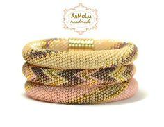 Beaded Crochet Necklace  Beaded Crochet Bracelet  Bracelet