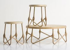Welding Wood tables by CuldeSac
