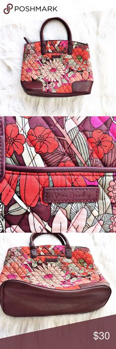 """Vera Bradly Bohemian Blossom shoulder bag Lovely Vera Bradley shoulder bag in the Bohemnian Blossom print. Features faux leather bottom, handles, and accents. Excellent condition. Measures 13x5x11"""", strap drop is 5"""". Vera Bradley Bags Shoulder Bags"""