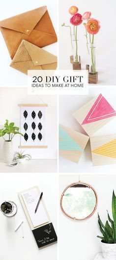 Here's a great roundup of 20 DIY Holiday Gift Ideas to make at home