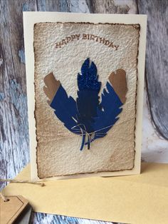 Birthday card with Feathers