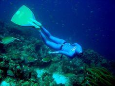 Mergulhe nessa com Karol Meyer - a mulher peixe