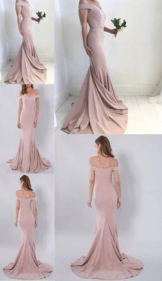 521b149b9c 2017 New Fashion Blush Pink Prom Dresses,Mermaid Prom Dress,Off The  Shoulder Party