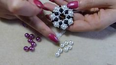 1st Diy tutorial ciondolo con perle e perline 1 come fare gioielli fai da te (3:57 start)