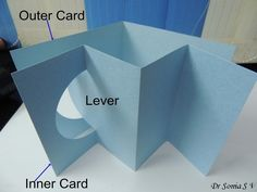 Lever Pop up Card tutorial Card Making Tips, Card Making Tutorials, Card Making Techniques, Fun Fold Cards, Pop Up Cards, Folded Cards, Swing Card, Karten Diy, Step Cards