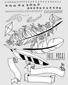 IROCKSOWHAT: FREE Feather Photoshop Brushes for download! Also PNGs for those that would rather work with those.