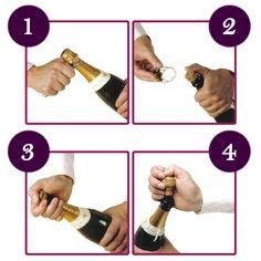 abrir vino espumoso