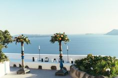 Santorini wedding-wedding altar    See the full gallery here:http://tietheknotsantorini.com/santorini-elopement-in-oia