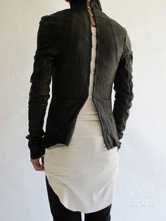 Odyn Vovk leather shirt - back view