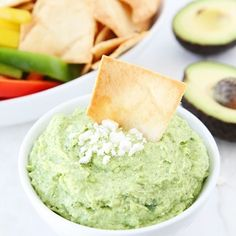 Avocado Feta Dip Recipe- I make this every weekend, it's my favorite dip in the whole world