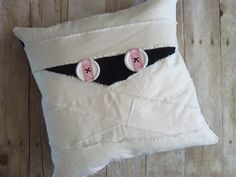 Mummy Pillow / Halloween Pillow by stickponystudio on Etsy