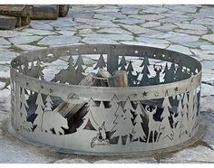 Northwoods Decorative Fire Ring-like the stonework around the fire ring
