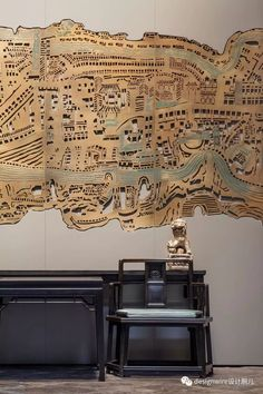In the need for some inspiration? Take the best that the chinese culture has to offer and find out some interior design ideas for your projects! Wood Sculpture, Wall Sculptures, Chinese Interior, Oriental, Chinese Art, Chinese Culture, Chinese Style, Wall Treatments, Map Art