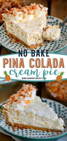 Calling all pina colada lovers! No Bake Pina Colada Cream Pie is a must-try. This recipe makes the easiest pie, combining all the classic flavors of the drink and a graham cracker crust. The perfect dessert for sharing with friends this summer! Save this pin! Birthday Desserts, Köstliche Desserts, Summer Desserts, Delicious Desserts, Dessert Recipes, Cool Whip Desserts, Tropical Desserts, Southern Desserts, Recipes Dinner