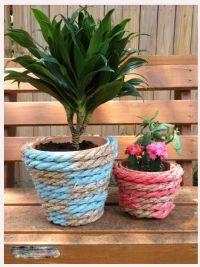 DIY Flower Pots (Cheap and Neat Solution for Gardening) – Diy Garden Diy Flowers, Flower Pots, Flower Pot Design, Coil Pots, Spring Activities, Terracotta Pots, Diy Craft Projects, Beautiful Gardens, Planter Pots