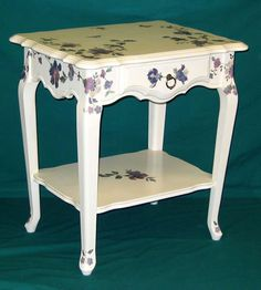 How To Decoupage Furniture   Zadia Wood Center   Unfinished Furniture