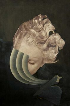 Karl Walddmann. Collage on paper