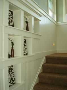 Cool stair case idea!  Beautiful lake house designed and built by The Front Porch Group, Inc.   www.thefrontporchgroupinc.com