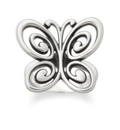 Abounding Spring Butterfly Ring | James Avery Abounding Spring Butterfly Ring $87.00 R-1642 Inspired by the beauty and wonder found all around us, capture a symbol of nature's enduring spirit with this delicately crafted Spring Butterfly Ring.