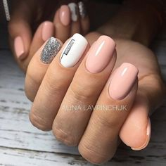 Having short nails is extremely practical. The problem is so many nail art and manicure designs that you'll find online Minimalist Nails, Cute Nails, Pretty Nails, Hair And Nails, My Nails, Gel Nagel Design, Nails For Kids, Nails Only, Trendy Nail Art
