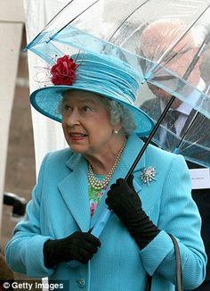 Matching Umbrella ~ visiting Wallets Marts, where she observed sheep shearing in Castle Douglas, Galloway, Scotland