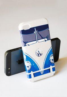 VW Minibus Teal Iphone Case