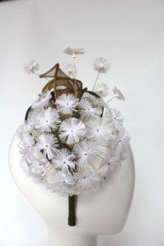 High in the originality stakes, this statement piece has the impact of a larger hat but the lightness and comfort of a headband. The dandelion disperses its...