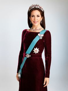 Crown Princess Mary of Denmark wore the Ruby Parure Tiara in a new official photo from the Danish Royal Court.