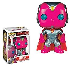 Amazon.com: Funko Pop Marvel Avengers Age of Ultron Vision Metallic Exclusive Vinyl Bobblehead Figure: Toys & Games