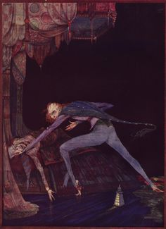 Harry Clarke. Edgar Allan Poe - Tales of Mystery and Imagination -  in color - from the blog 50 Watts by Will Schofield -  1 of 8