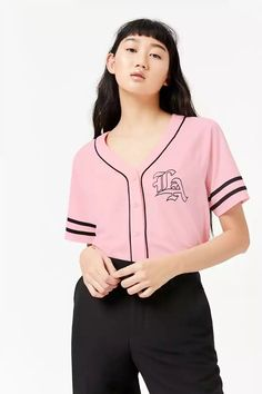Product Name:LA Baseball Jersey, Category:top_blouses, Price:19.9