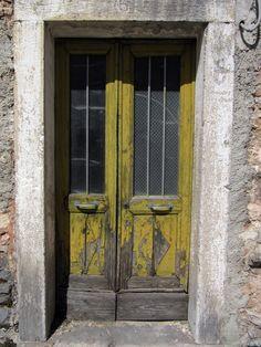 old yellow door