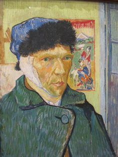 December 23, 1888, Vincent van Gogh, cut off the lower part of his left ear. A dispute with Gauguin led to the self-mutilation.  Right afterwards he checked himself into a mental institute for a year. During his stay he fluctuated between madness and intense creativity, in which he produced some of his best works, including Starry Night and Irises.  Van Gogh shot himself on July 27, 1890, died two days later at age 37. Lesson learned, depression is an incredible muse often rewarded after…