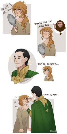 Plus: And they lived happily ever after in all their horribly non-plucked bushy eyebrow glory (Loki x Sigyn)