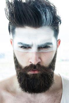 Model: Chris John Millington Make-Up: Rona Skuodas