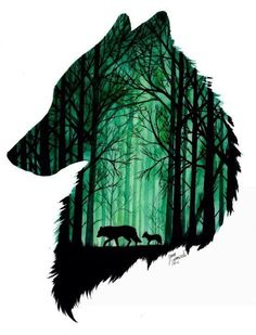 """Just the outer shape in black with """"the wolf you feed"""" in negative space Animals by Jonna Lamminaho длиннопост, арт, Jonna Lamminaho, Животные Animal Drawings, Cool Drawings, Pencil Drawings, Wolf Tattoo Design, Tattoo Designs, Wolf Design, Hunting Art, Wolf Tattoos, Cross Tattoos"""