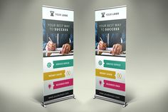 Business Roll Up Banner - v007 by Creatricks on @creativemarket