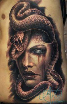 Resultado de imagem para tatuagem de medusa