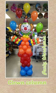 Clown column. Mypartywarehouse.com