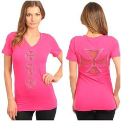P.S. I Love You More Boutique | Pink Crossed Top | www.psiloveyoumoreboutique.com